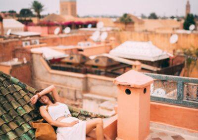 Riad terrace Marrakech