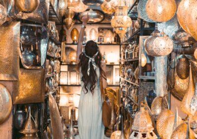 Women in the souk shopping in Marrakech